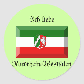 Nordrhein-Westfalen Flag Gem Classic Round Sticker