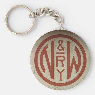 Norfolk and Western Railway Logo Key Chain
