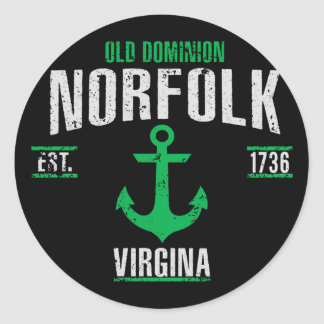 Norfolk Classic Round Sticker