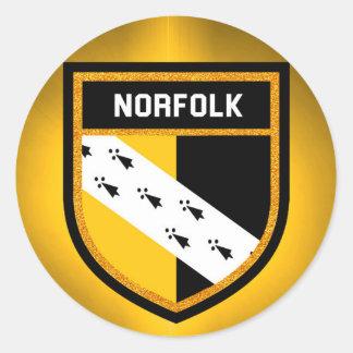 Norfolk Flag Classic Round Sticker