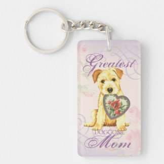 Norfolk Heart Mom Keychain