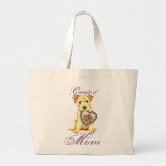 Norfolk Heart Mom Large Tote Bag