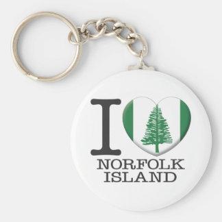 Norfolk Island Basic Round Button Keychain