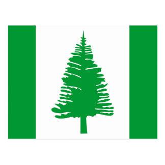 Norfolk Island country flag nation symbol Postcard
