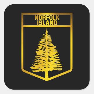 Norfolk Island Emblem Square Sticker