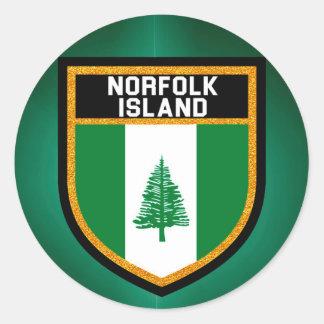 Norfolk Island Flag Classic Round Sticker