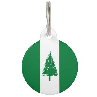 Norfolk Island Flag Pet Name Tag