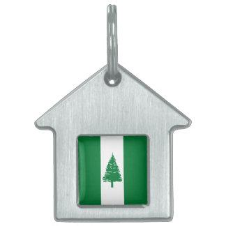 Norfolk Island Flag Pet Tag