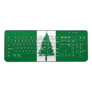 Norfolk Island Flag Wireless Keyboard