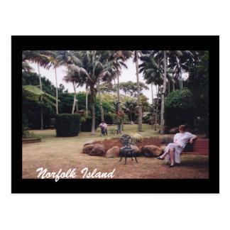norfolk island garden postcard