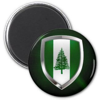 Norfolk Island Metallic Emblem Magnet