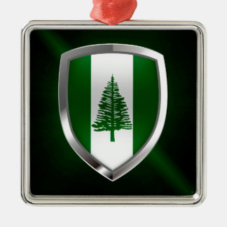 Norfolk Island Metallic Emblem Metal Ornament