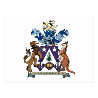 Norfolk Islands Coat of Arms Postcard