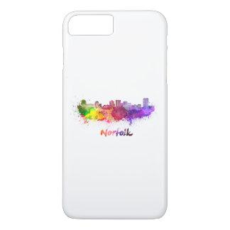 Norfolk skyline in watercolor iPhone 8 plus/7 plus case