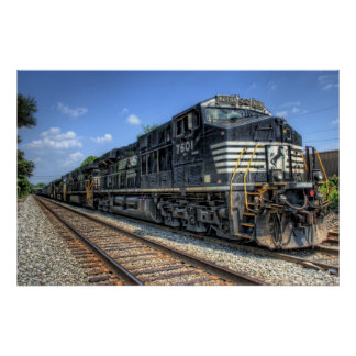 Norfolk Southern in HDR Poster