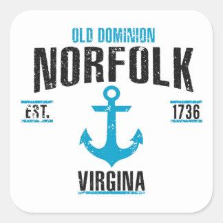 Norfolk Square Sticker