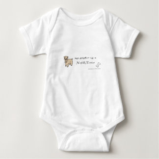 norfolk terrier baby bodysuit