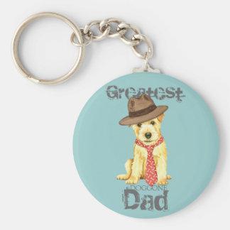 Norfolk Terrier Dad Basic Round Button Keychain