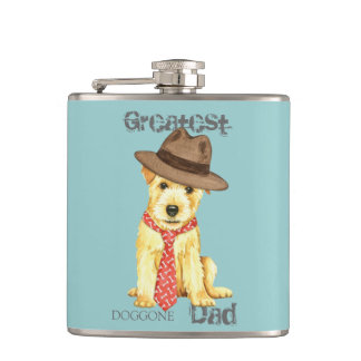 Norfolk Terrier Dad Hip Flask