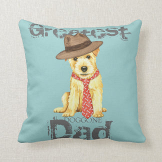 Norfolk Terrier Dad Throw Pillow
