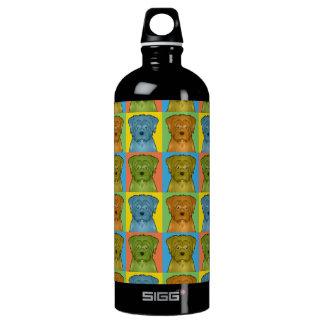 Norfolk Terrier Dog Cartoon Pop-Art Water Bottle