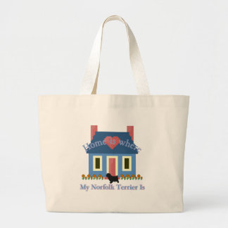 Norfolk Terrier Home Is Large Tote Bag