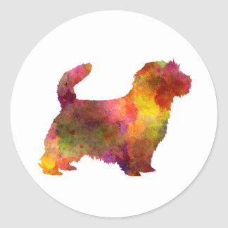 Norfolk Terrier in watercolor Classic Round Sticker