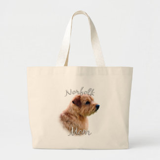 Norfolk Terrier Mom 2 Large Tote Bag