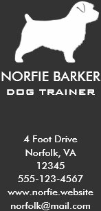 Dog logo business cards profile cards zazzle ca norfolk terrier silhouette business card reheart Gallery