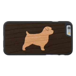 Norfolk Terrier Silhouette Carved Cherry iPhone 6 Case