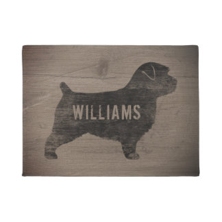 Norfolk Terrier Silhouette Personalized Doormat