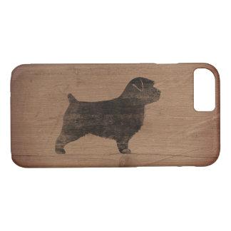 Norfolk Terrier Silhouette Rustic iPhone 8/7 Case