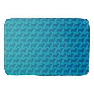Norfolk Terrier Silhouettes Pattern Bath Mat