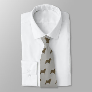Norfolk Terrier Silhouettes Pattern Tie