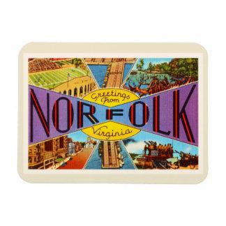 Norfolk Virginia VA Old Vintage Travel Postcard- Magnet