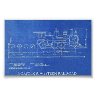 NORFOLK & WESTERN RAILROAD ENGINE NO.521  POSTER