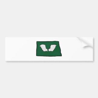 Norht Dakota Tough Wings Bumper Sticker