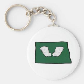 Norht Dakota Tough Wings Keychain