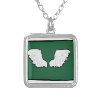 Norht Dakota Tough Wings Silver Plated Necklace