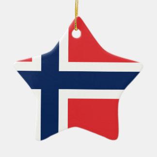 norieguian Flag Ceramic Star Ornament