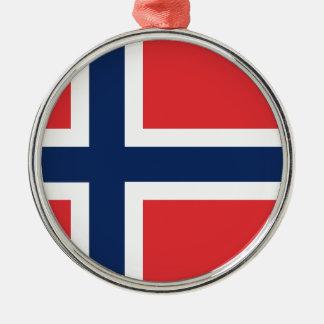 norieguian Flag Silver-Colored Round Ornament