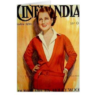 Norma Shearer Cinelandia Card