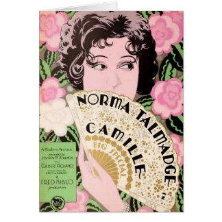 Norma Talmadge 1927 silent movie exhibitor ad Card