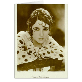 Norma Talmadge vintage portrait card
