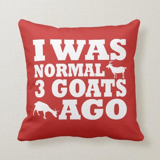 Normal 3 Goats Ago Throw Pillow