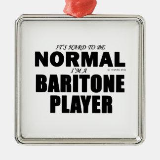 Normal Baritone Player Metal Ornament