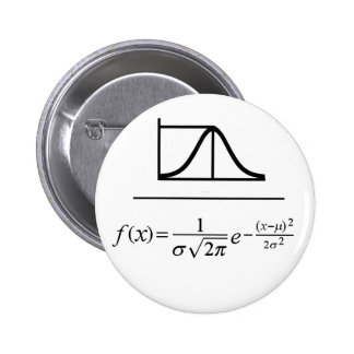 Normal Distribution 2 Inch Round Button