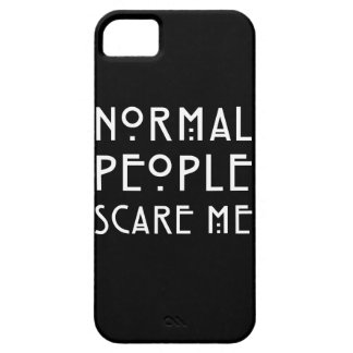 Normal People Scare Me - White iPhone 5 Cases