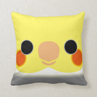 Normal Pied Cockatiel Throw Pillow