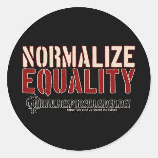 NormalizeEquality, . Round Sticker